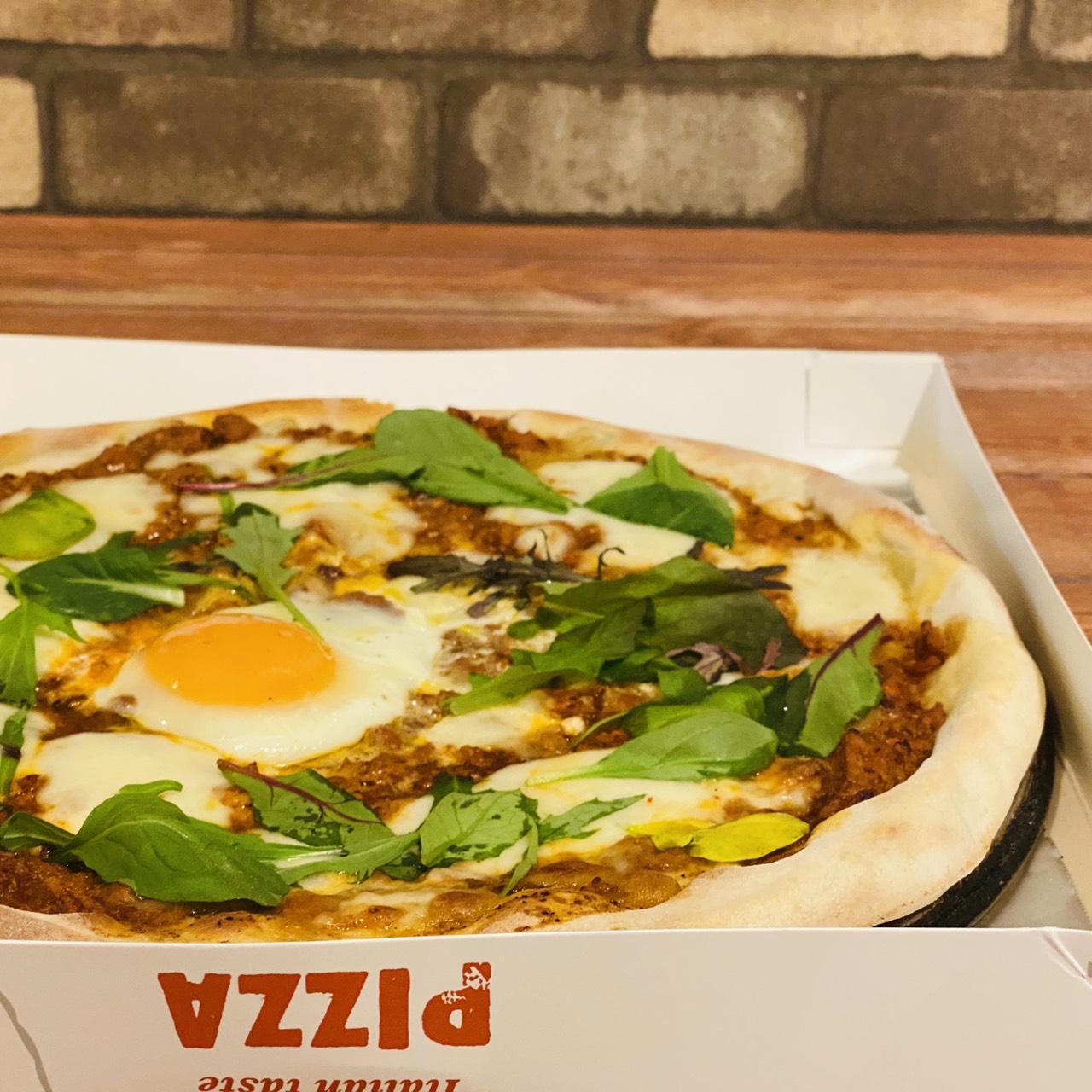 半熟卵のビスマルクピザ