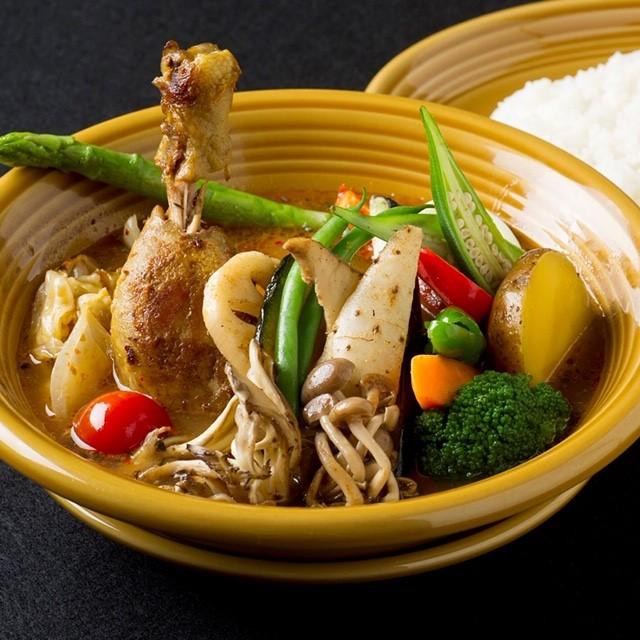 チキンと16種の野菜スープカレー