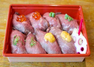 十勝ハーブ牛赤身の握り寿司