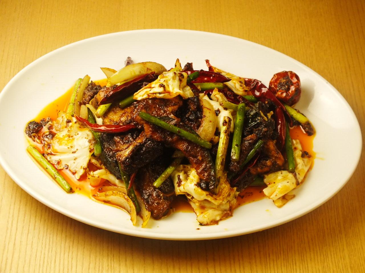 回鍋肉 (豚肉と野菜の中国味噌炒め)