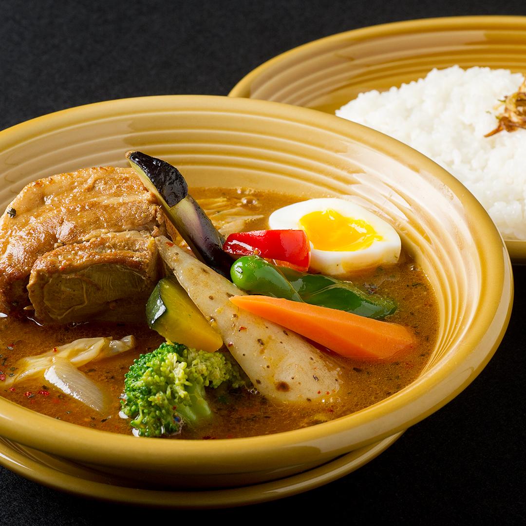 豚角煮スープカレー