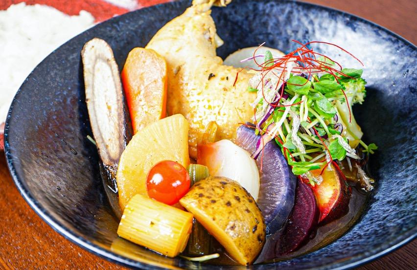 チキンと野菜のスープカリー