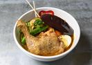 チキンレッグと野菜カレー(揚げor煮込み)