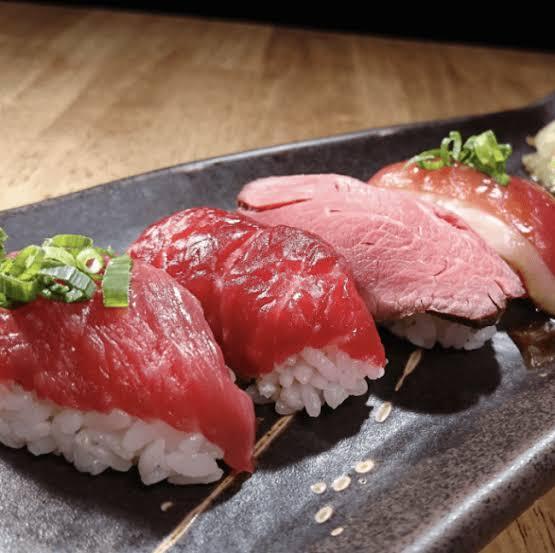 肉寿司盛り合わせ6貫