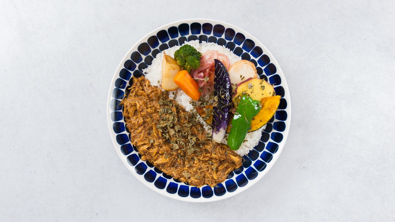 5種の素揚げ野菜 パキスタン風無水カレー