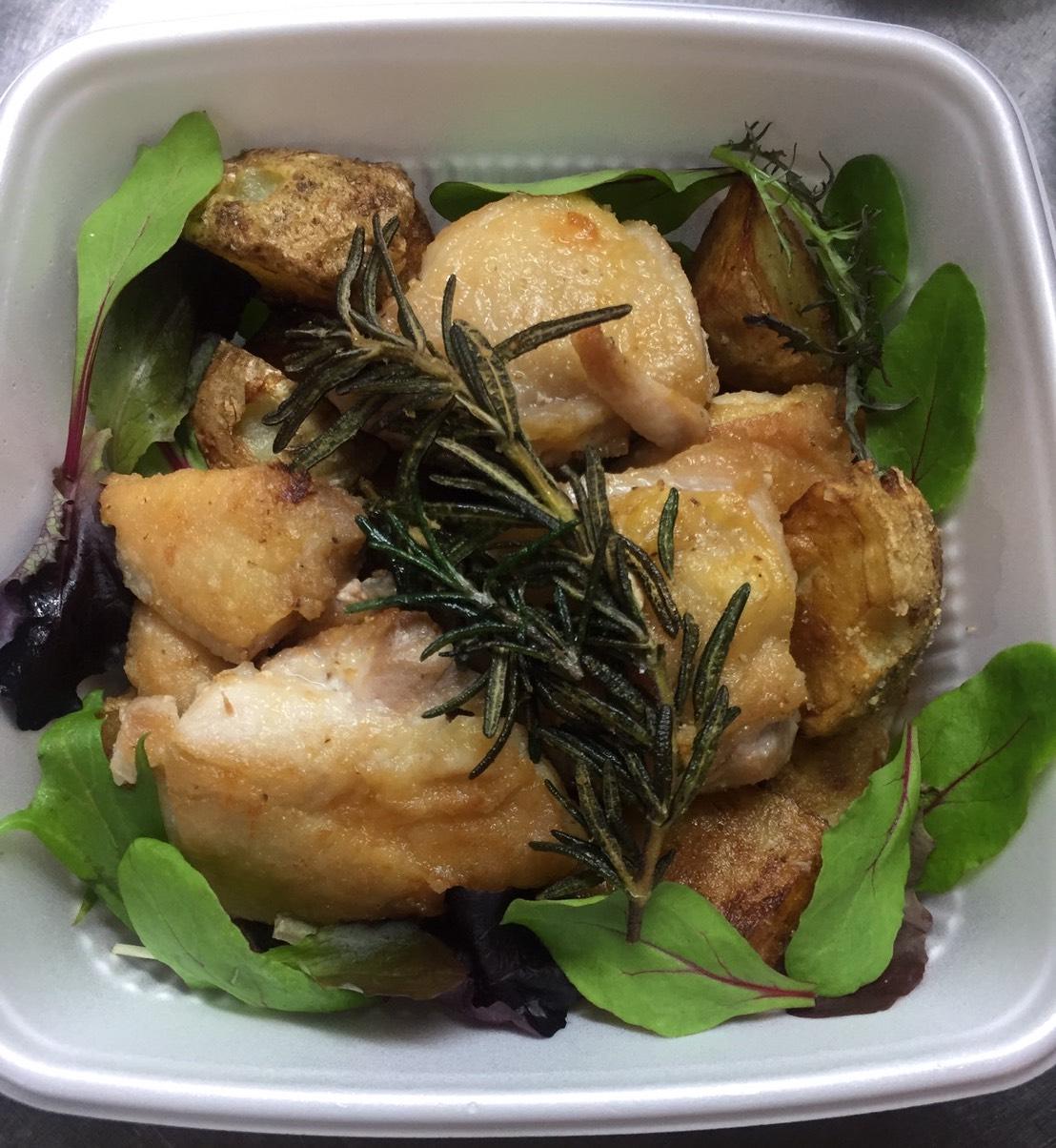 知床地鶏と北あかりのグリル ローズマリー風味