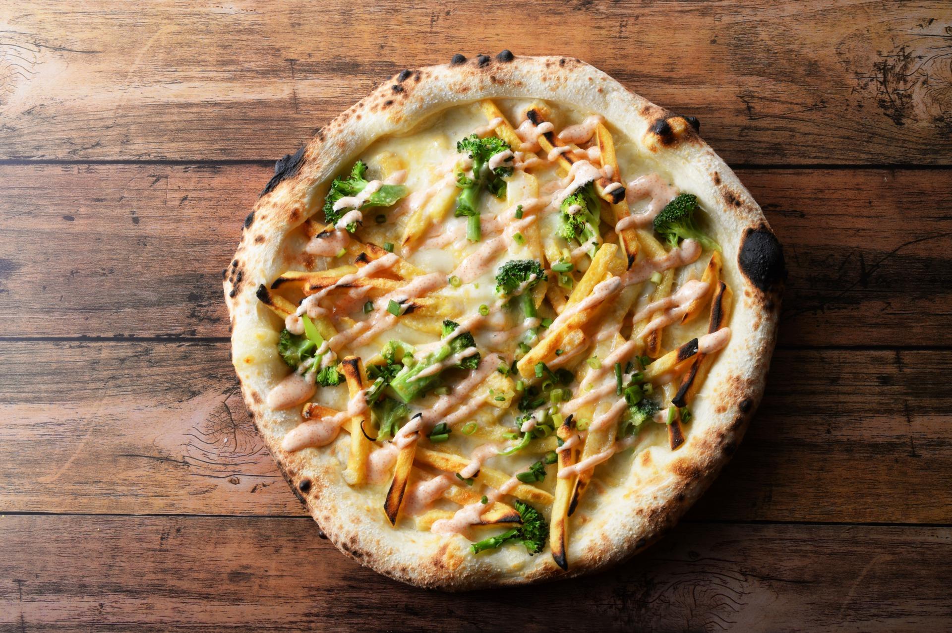 ポテトと明太マヨのピッツァ