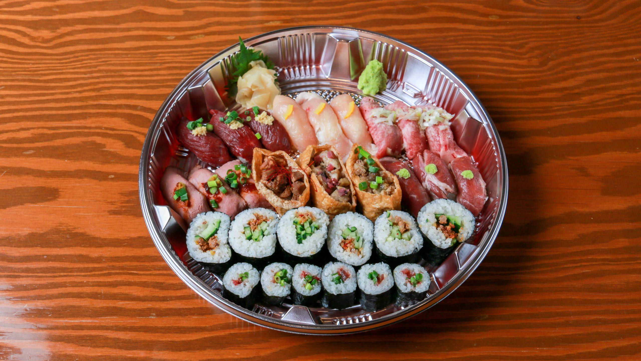 肉寿司盛り合わせ(2〜3人前)