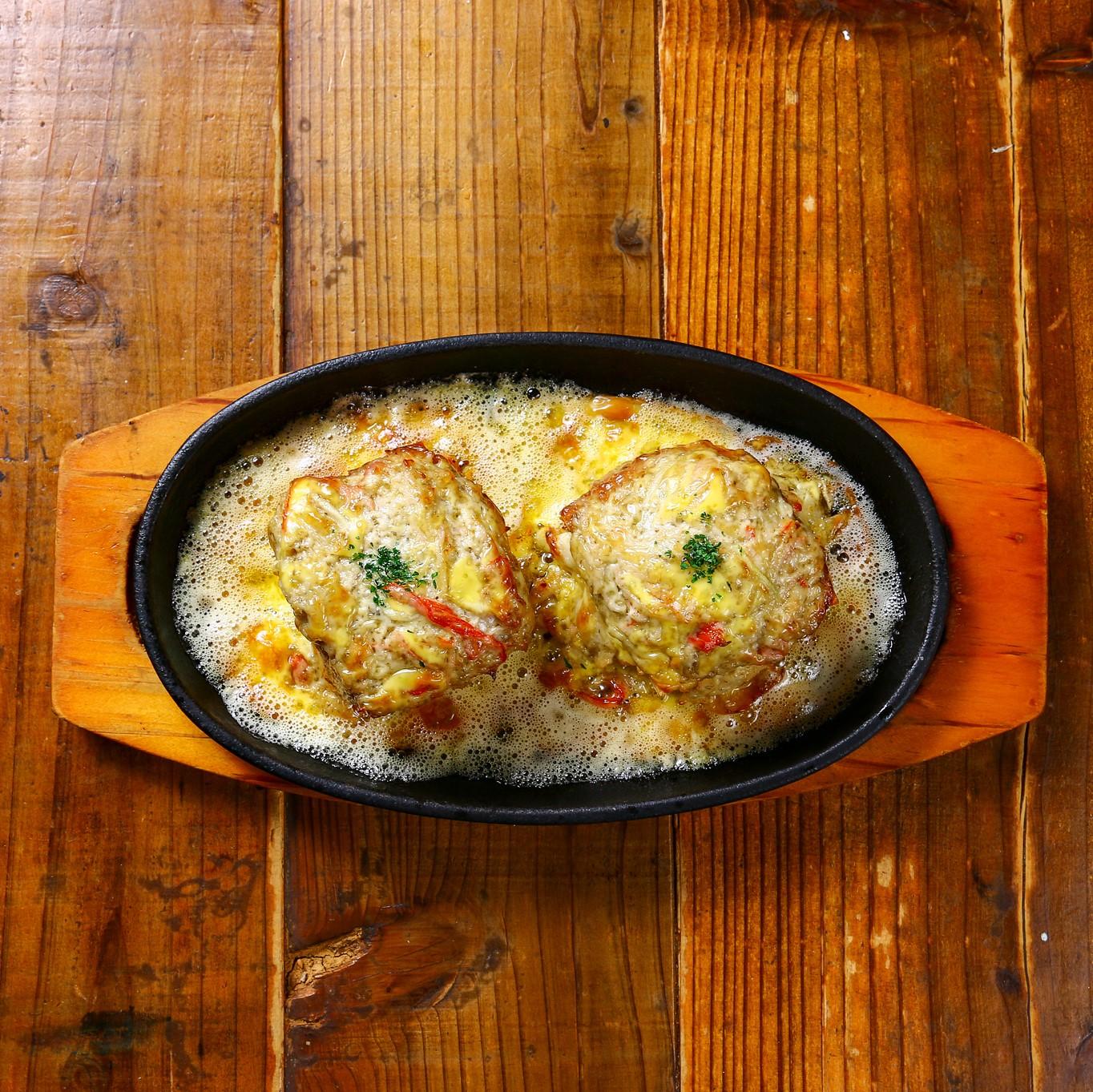 蟹パンのオーブン焼き