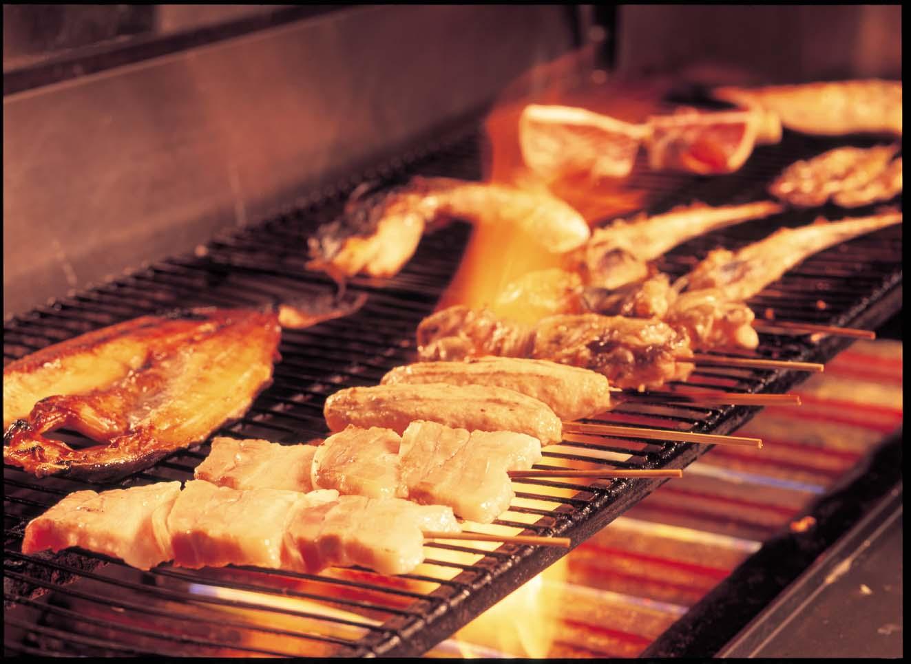 焼き鶏(鶏・豚・つくね串)お好み4本セット