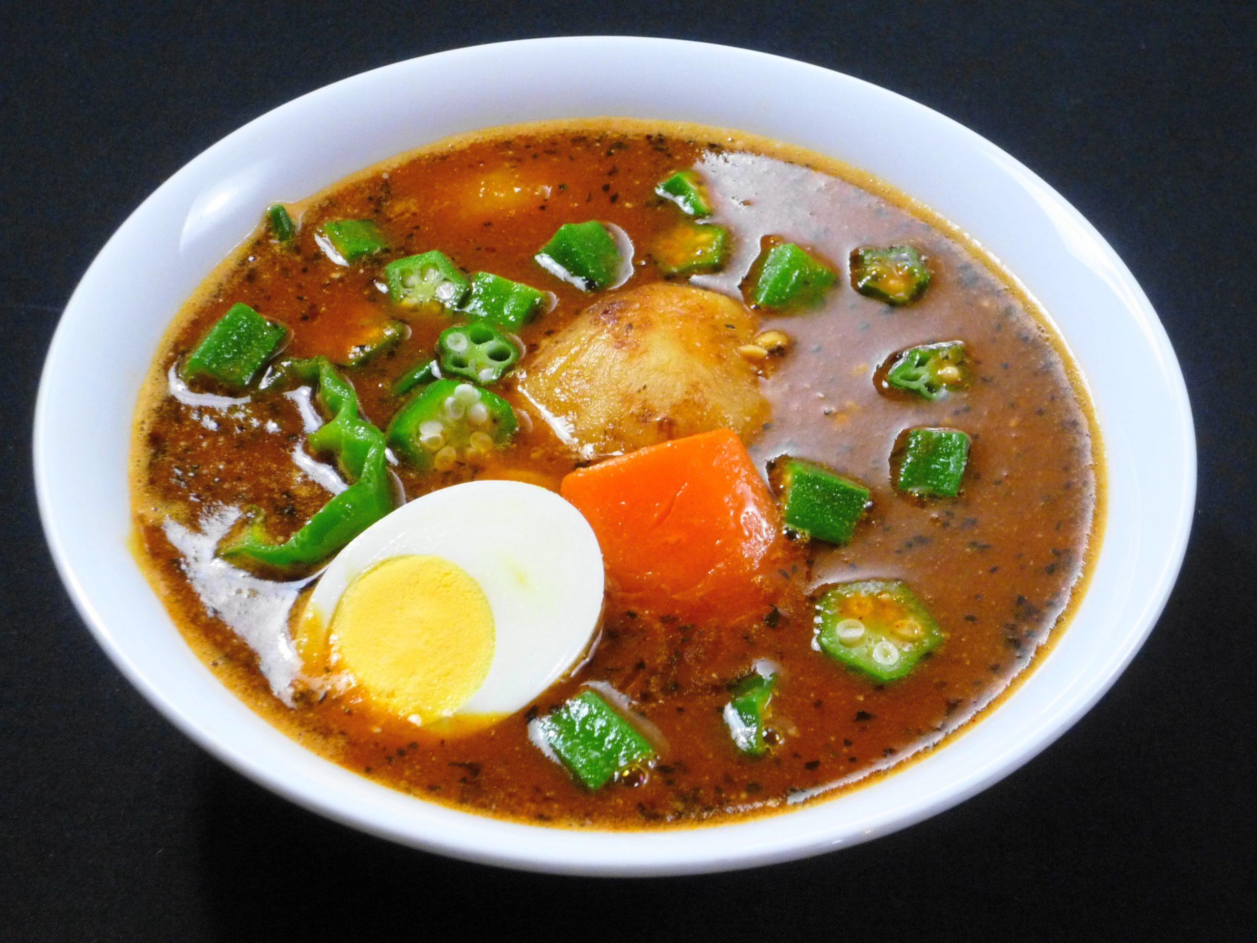 納豆オクラのスープカレー