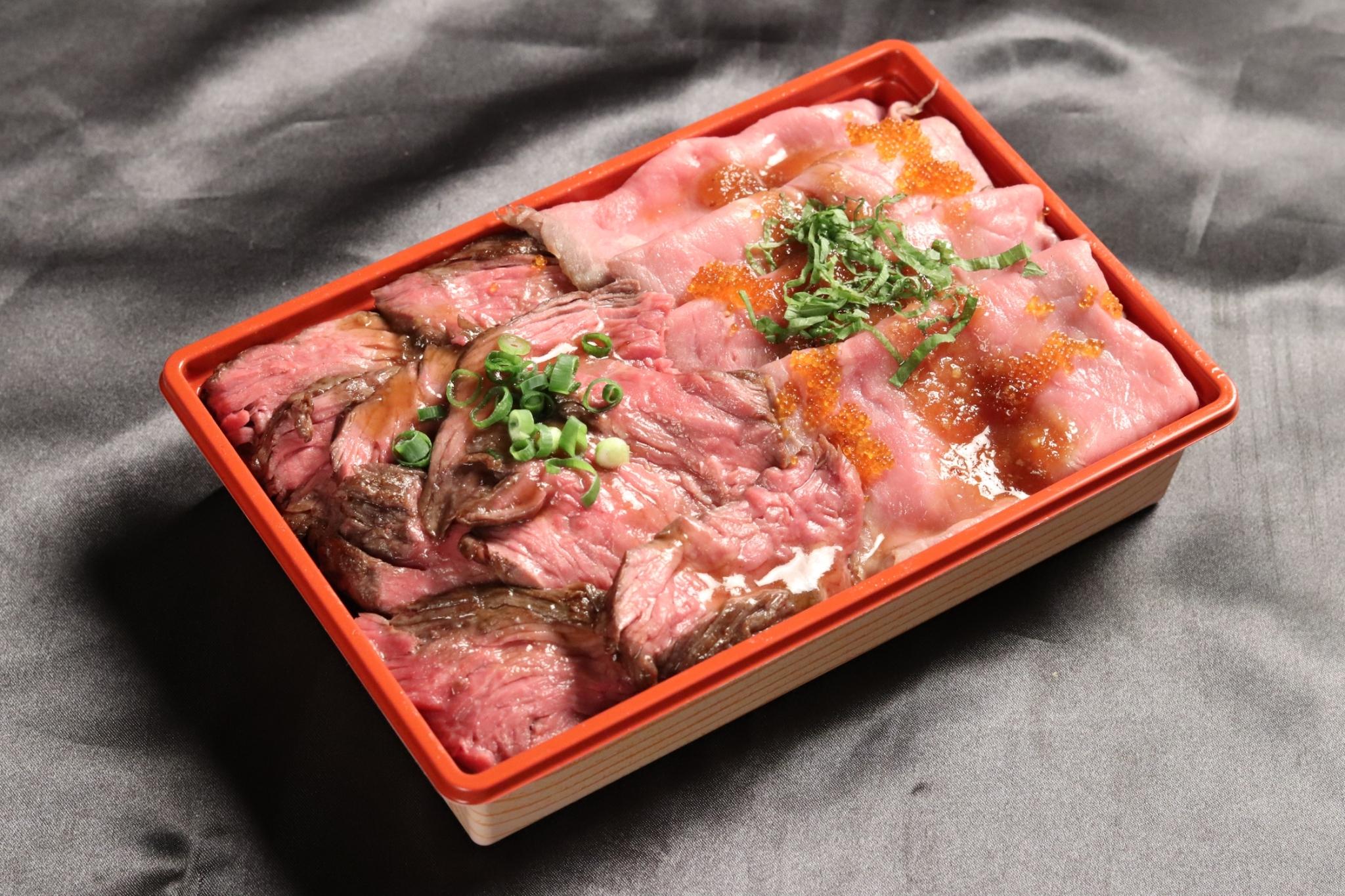 ローストビーフ&サガリステーキ弁当
