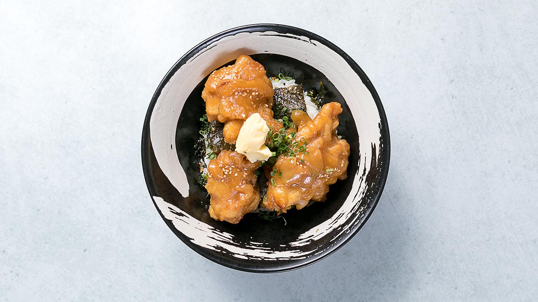 味噌バターザンギ丼