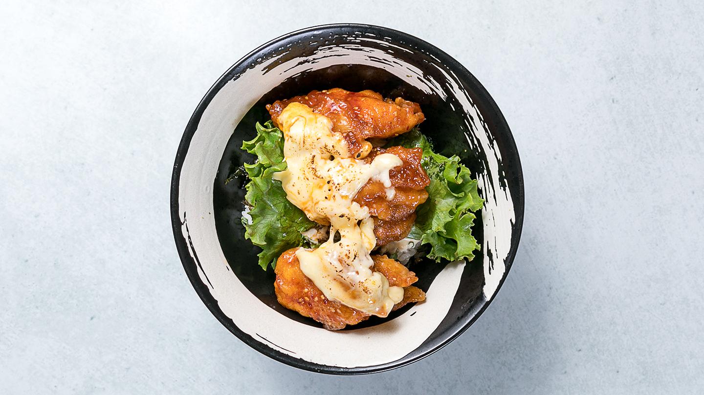 甘辛チーズザンギ丼