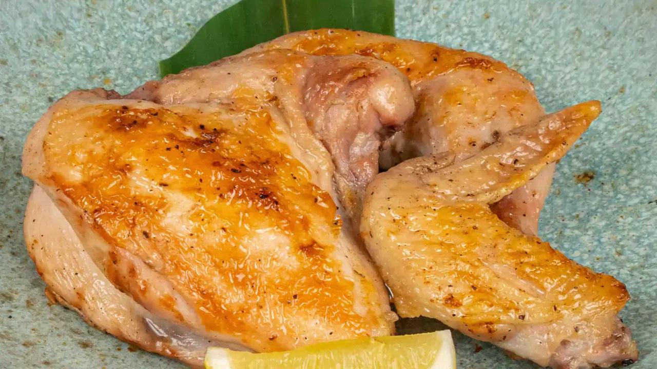 中札内若鶏半身炭焼