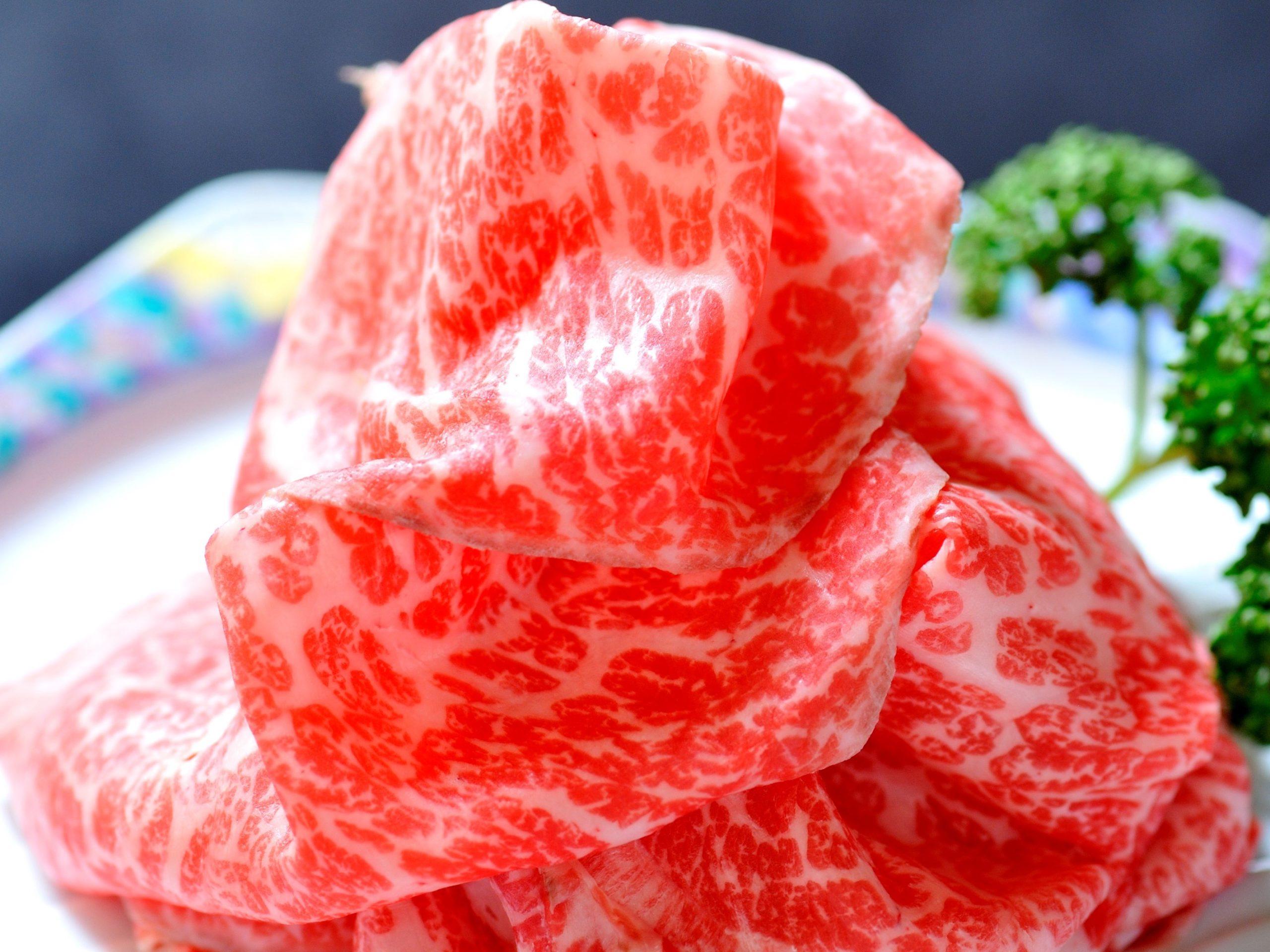 レアステーキ薄切り(霜降り)