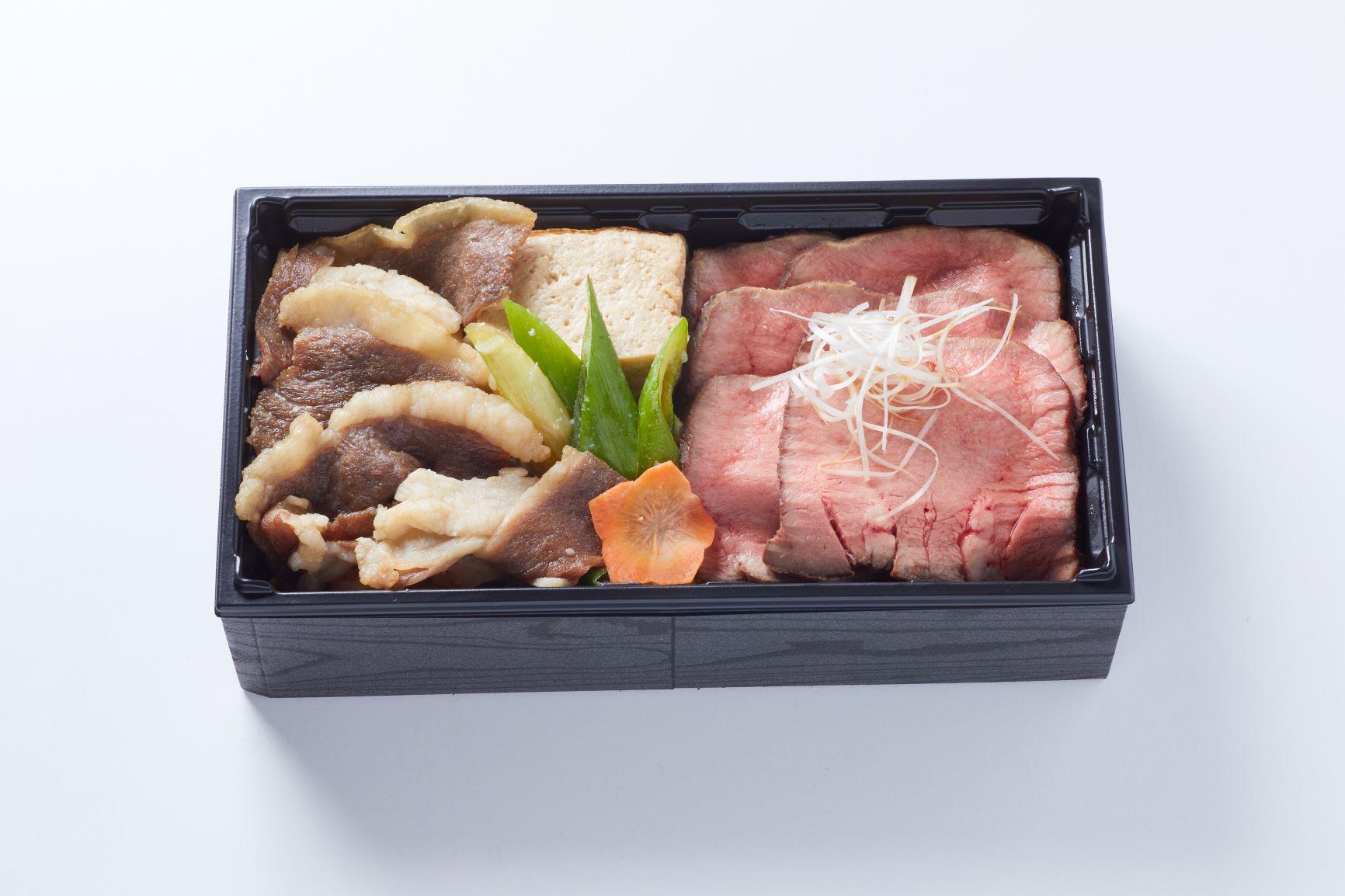 牛タンロースト×十勝ハーブ牛すき焼き弁当