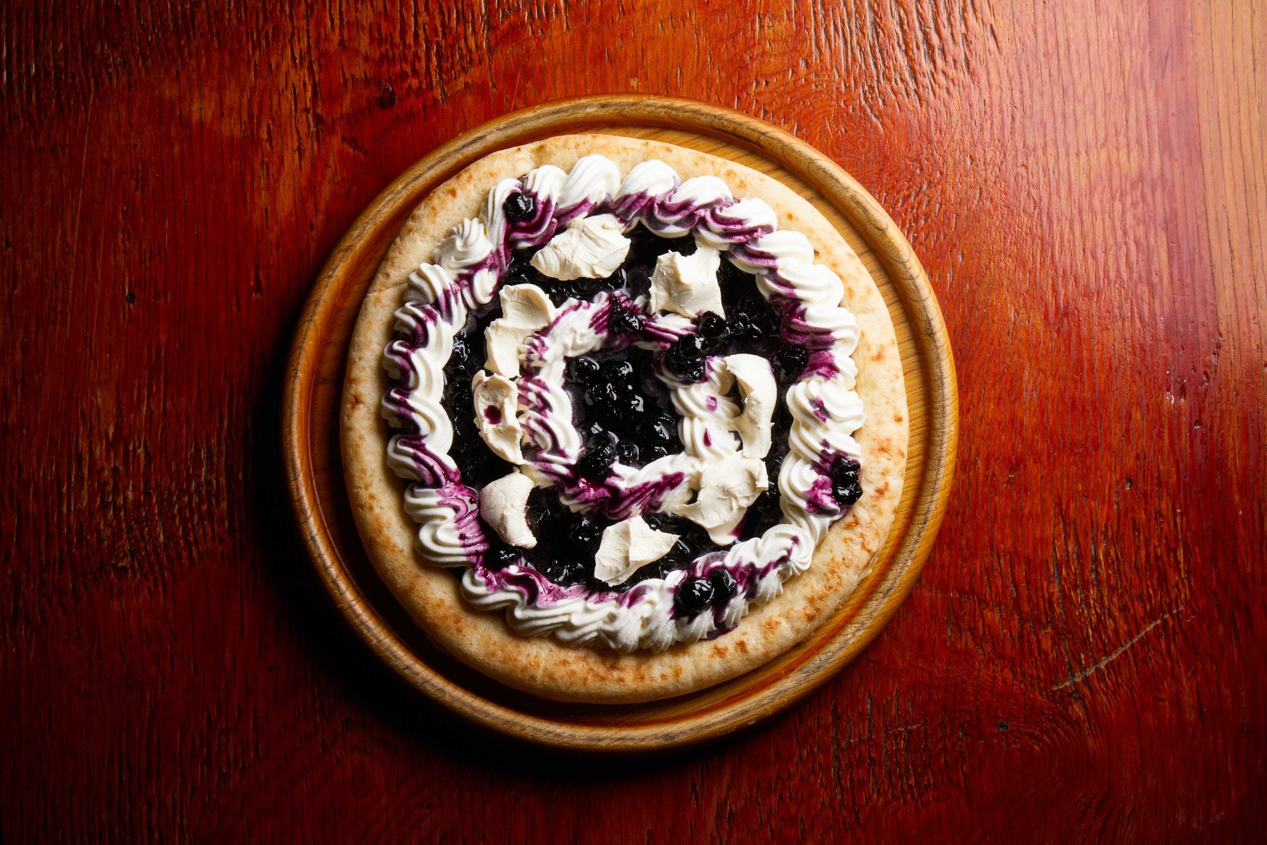 ブルーベリークリームチーズピザ
