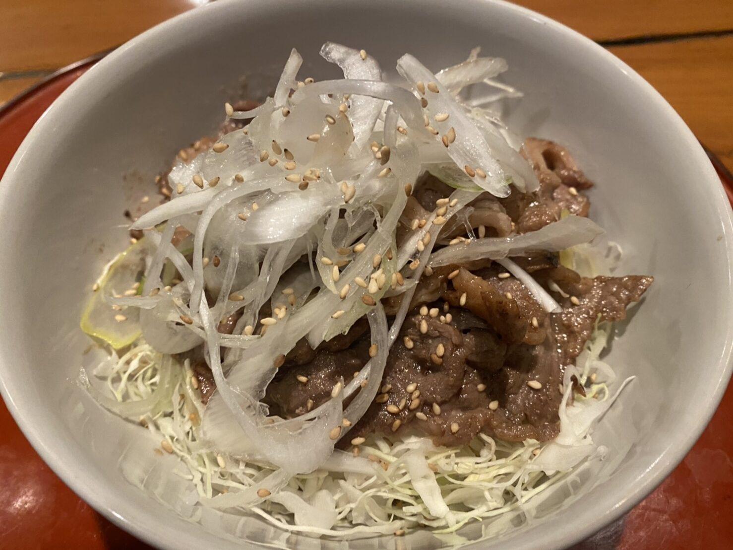 ジンギスカンネギ塩丼